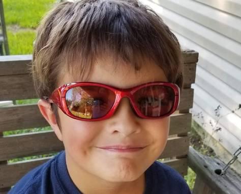 efficient brain small boy with irlen glasses (2)
